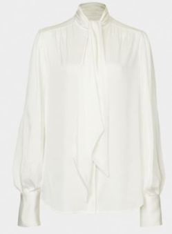 Ivory pussy bow blouse