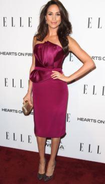 meghan purple dress