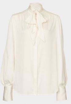 pearl blouse pussy bow