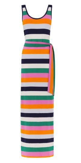 rainbow stripe maxi dress warehouse