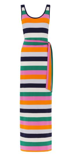 rainbow stripe maxi dress warehouse