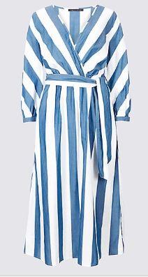 stripe sleeve dress