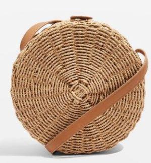 topshop woven circle bag