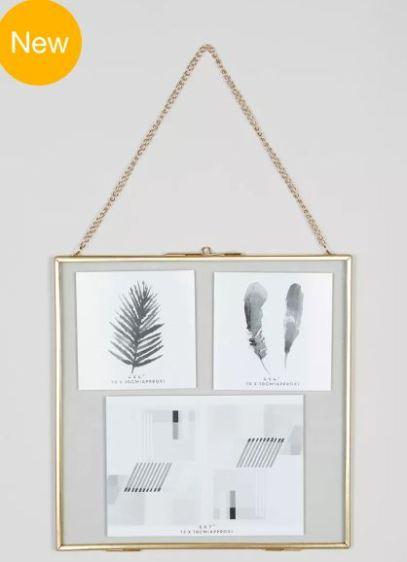 gold square frame